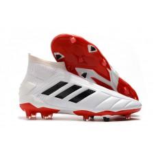 Adidas Predator Mania 19+FG - Branca/Vermelha