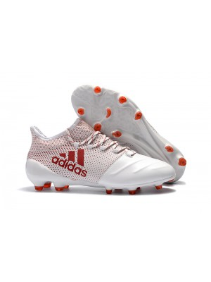 Adidas X 17.1 FG - Branca/Vermelha