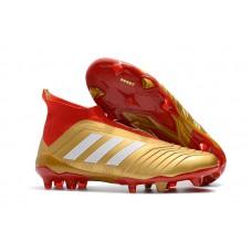 Adidas Predator 18+ FG - Dourada/Vermelha