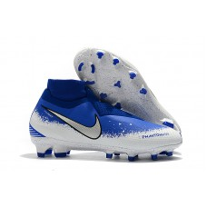 Nike Phantom VSN Shadow Elite FG  - Branca/Azul