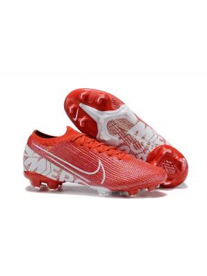 Nike Mercurial Vapor XIII Elite FG - Branca/Vermelha