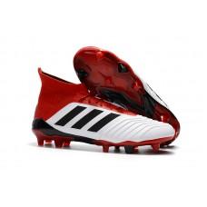 Adidas Predator 18.1 FG - Branca/Vermelha