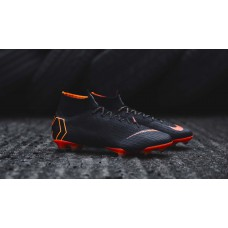 Nike Mercurial Superfly 6 Elite FG - Black/orange 360