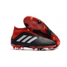 Adidas Predator 18+ Control FG - Preta/Vermelha