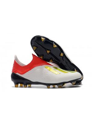 Adidas X 18+ FG - Branca/Vermelha