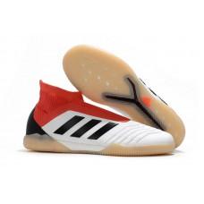 Adidas Predator Tango 18+ Control IC - Branca/Vermelha