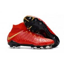 Nike Hypervenom Phantom III FG - Vermelha/Dourada