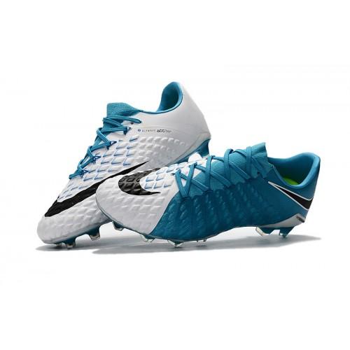 sports shoes e4a2a 8e7db Nike Hypervenom Phantom III FG - Azul/Branca Low