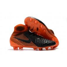 Nike Magista Obra II FG - Preta/Laranja