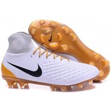 Nike Magista Obra II FG - Branca/Dourada