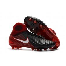 Nike Magista Obra II FG - Preta/Vermelha Fire