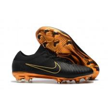 Nike Mercurial Flyknit Ultra - Preta/Dourada