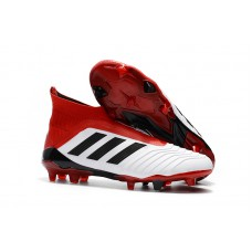 Adidas Predator 18+ Control FG - White/Red